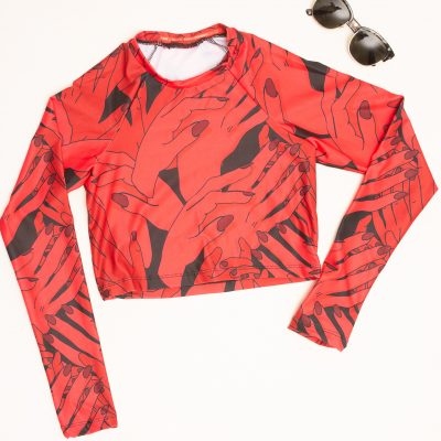 CROP TOP ROJO